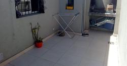 terraza con parrilla