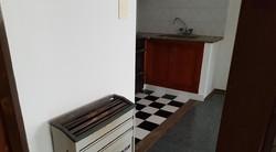 calefactor en el pasillo