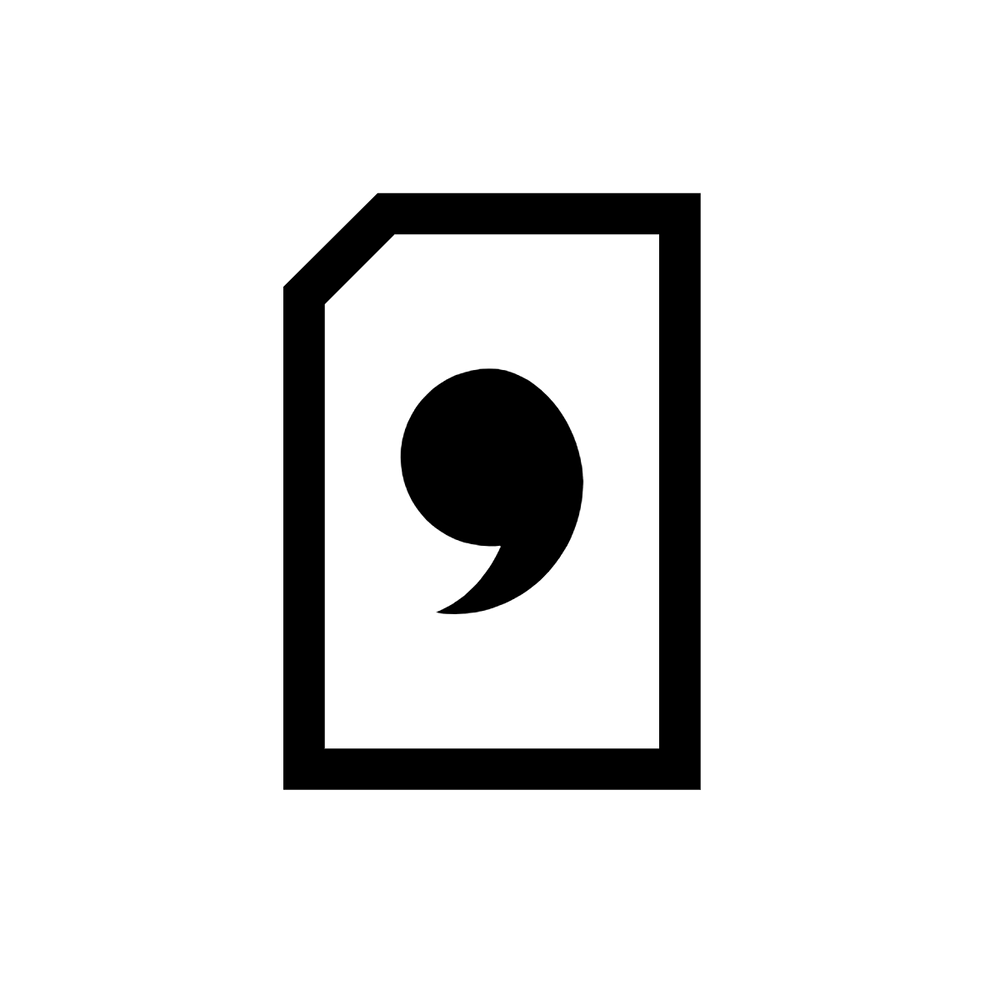 Icon of a Punctuation Mark: Comma (Virgül)