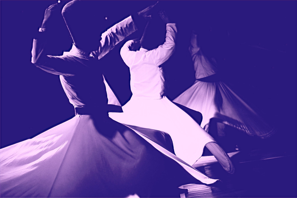 Dancing dervishes in a trance-like state