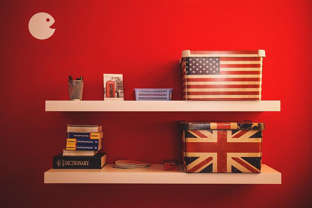 Image of U.S. flag and U.K. flag
