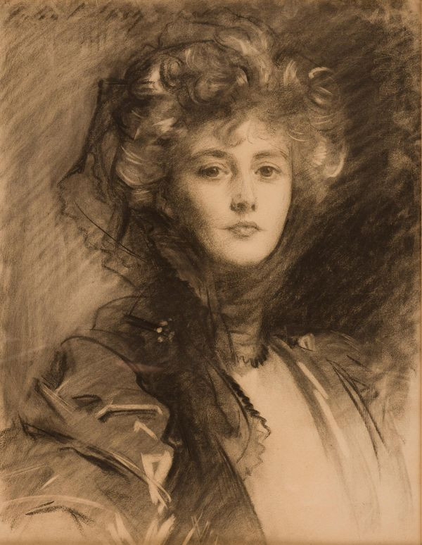 A portrait of the beautiful Lady Helen Vincent, Viscountess D'Abernon, by the great American portraitist John Singer Sargent (1856–1925).