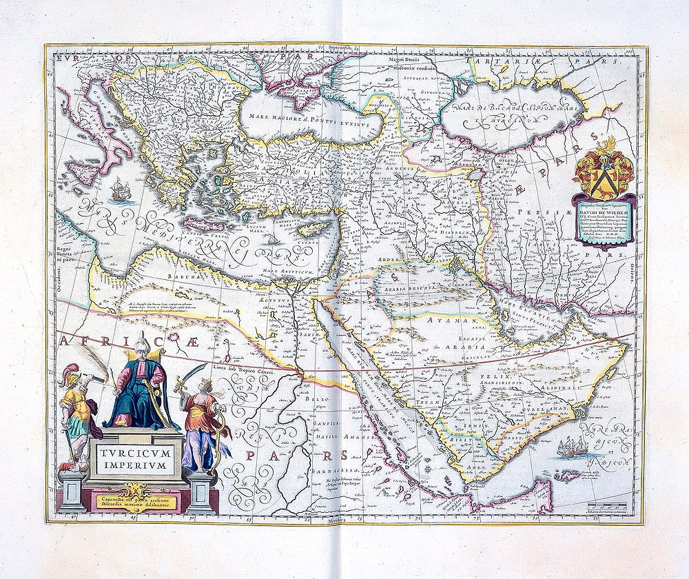 Map of the Ottoman Empire dated 1654.