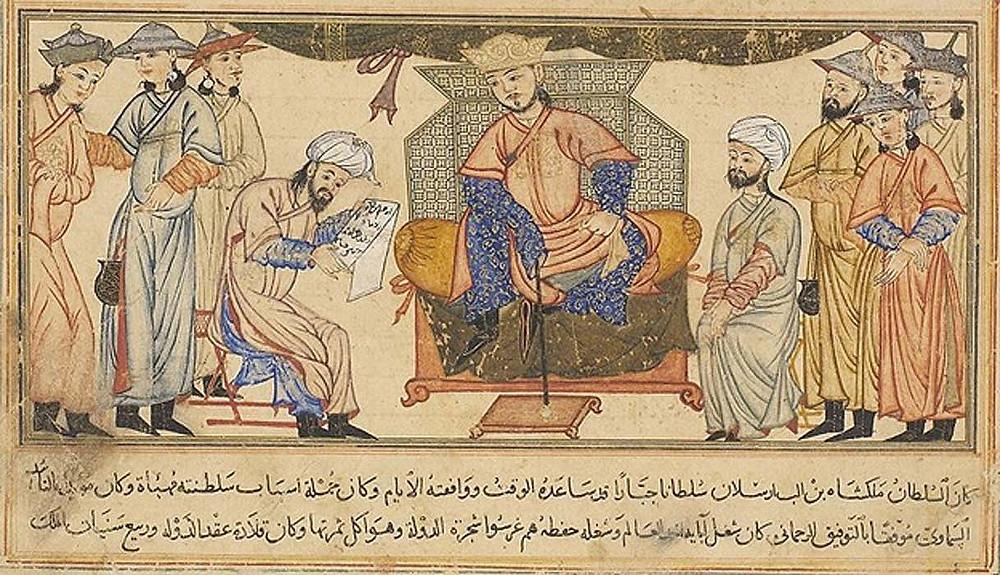Fig. 3. Malik-Shah I, ruler of the Seljuks, seated on his throne.