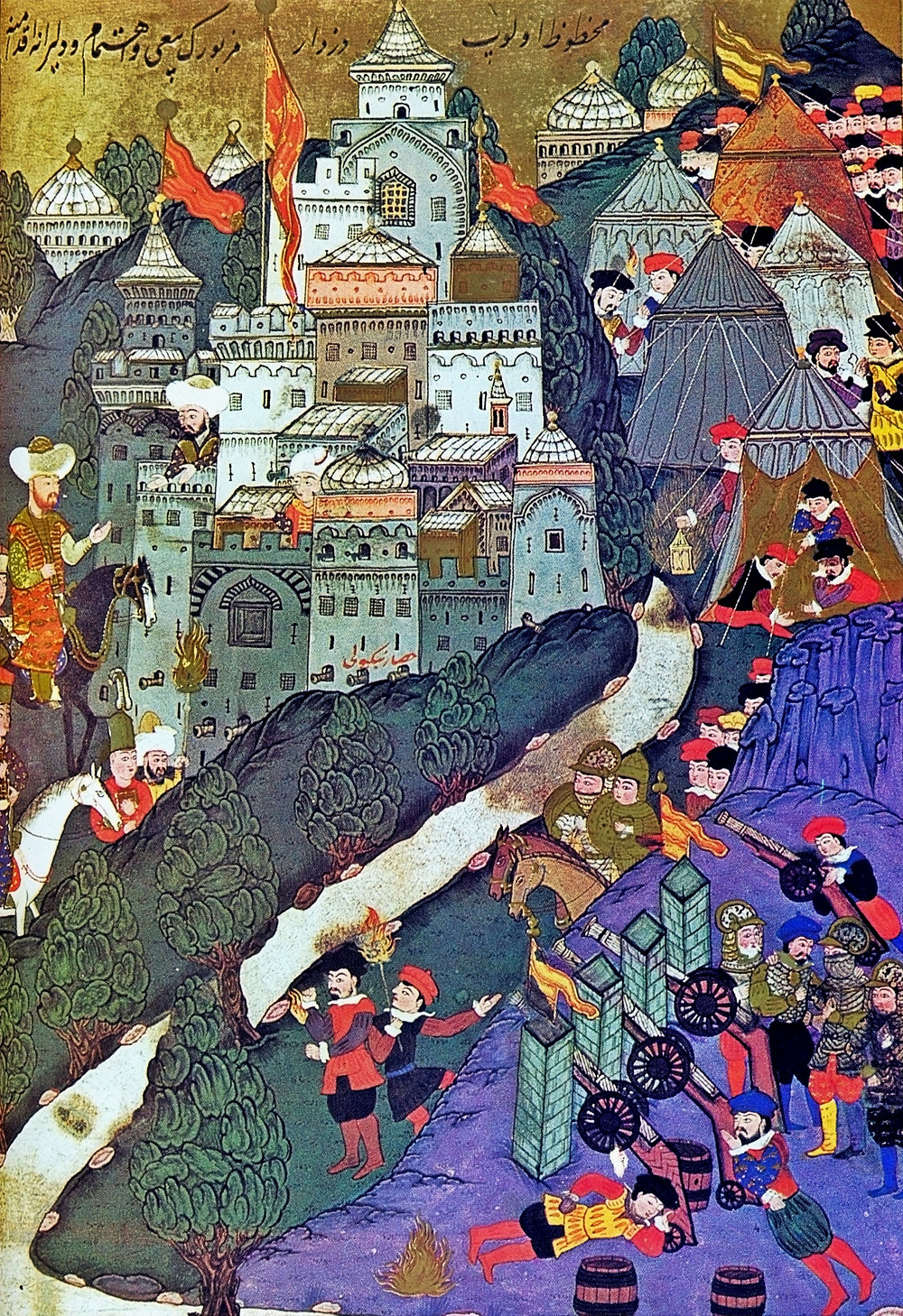 Fig. 4. The Battle of Nicopolis in 1396 (painting from 1523). By their victory at Nicopolis, the Turks tightened their control over the Balkans and became a greater threat to central Europe.