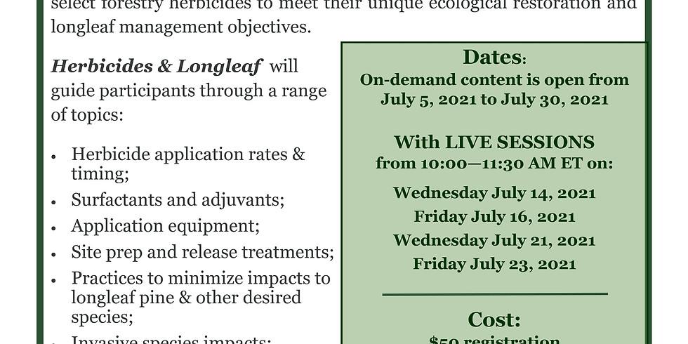 Longleaf Academy: Herbicides and Longleaf 201
