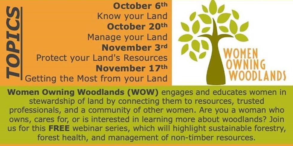 Women Owning Woodlands Webinar Series
