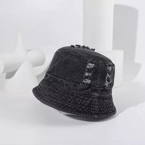 Black Denim Bucket Hat