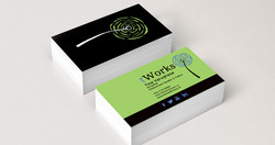 one cafe business cards