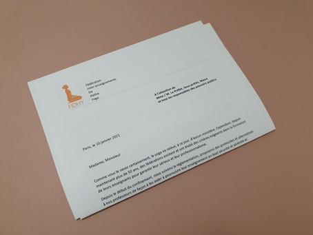 Lettre FIDHY adressée aux pouvoirs publics