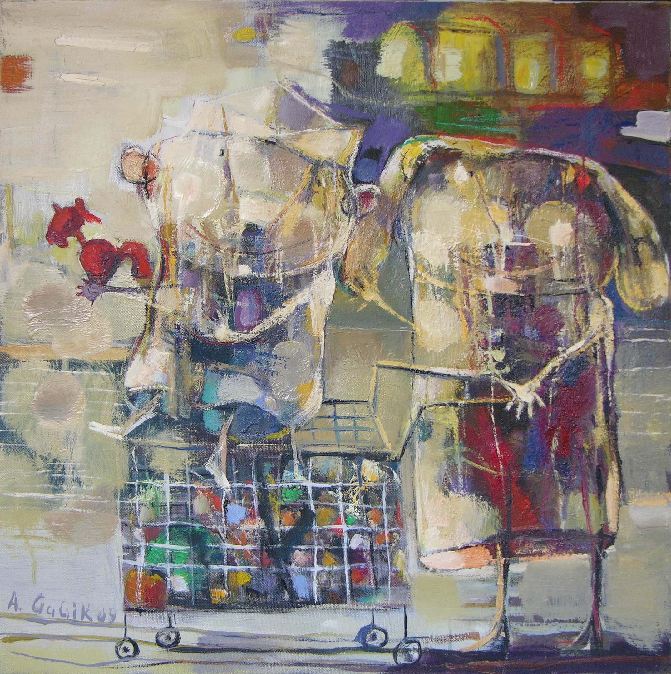 In the supermarket, 2009