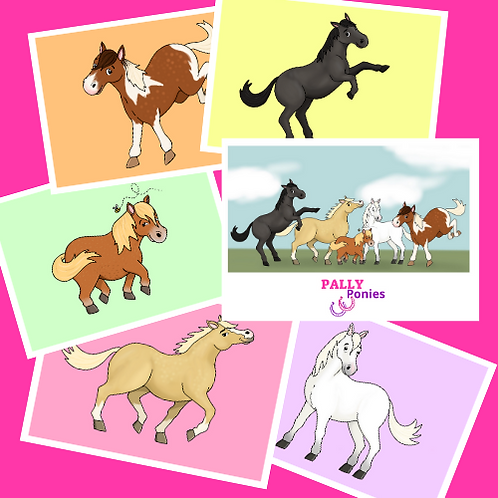 PALLY Ponies Postcard Set
