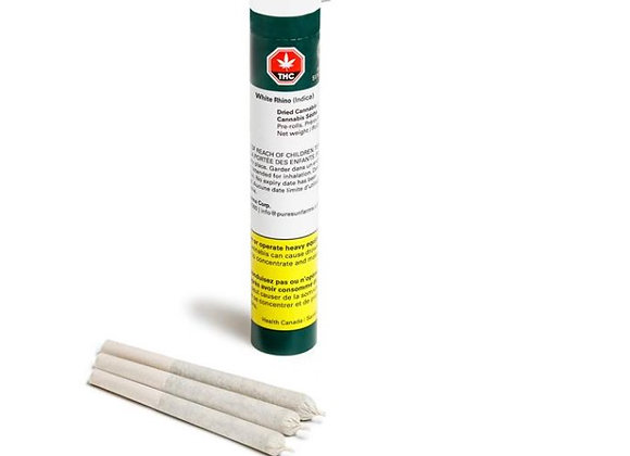 Pure Sunfarms White Rhino 3x 0.5g Joints