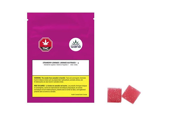 Wana Soft Chews Sour Strawberry Lemonade 1:1