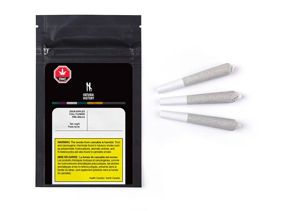 Natural History Zour Apples 3x 0.5g Joints