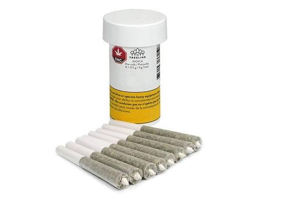 Treeline Indica 8x 0.5g Joints