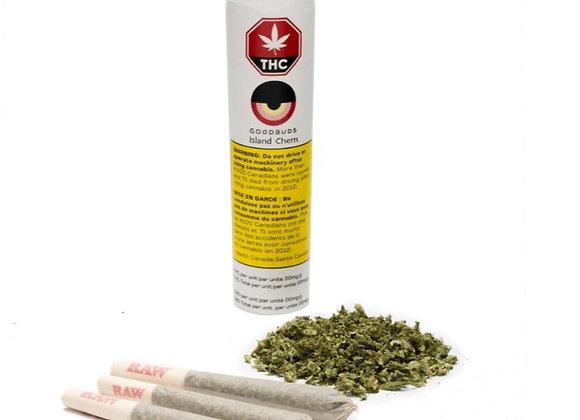 Good Buds Island Chem 3x 0.5g Joint