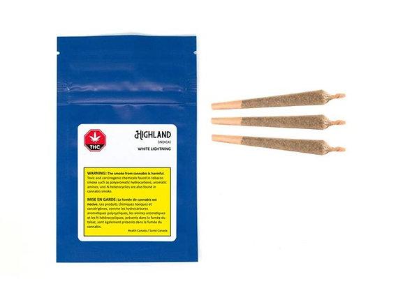 Highland Grow White Lightning 3x 0.5g Joints
