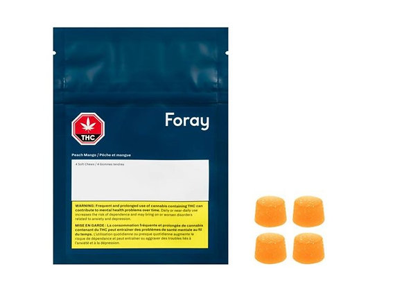 Foray Softchews Peach Mango 4pk
