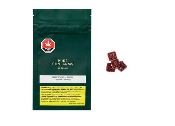 Pure Sunfarms Sour Raspberry 1:1 Soft Chews
