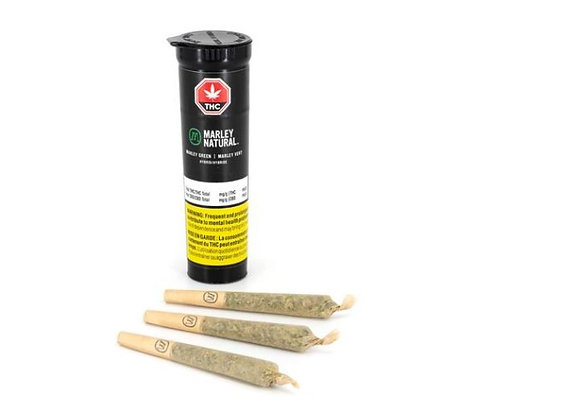 Marley Natural Green 3x 0.5g Joints