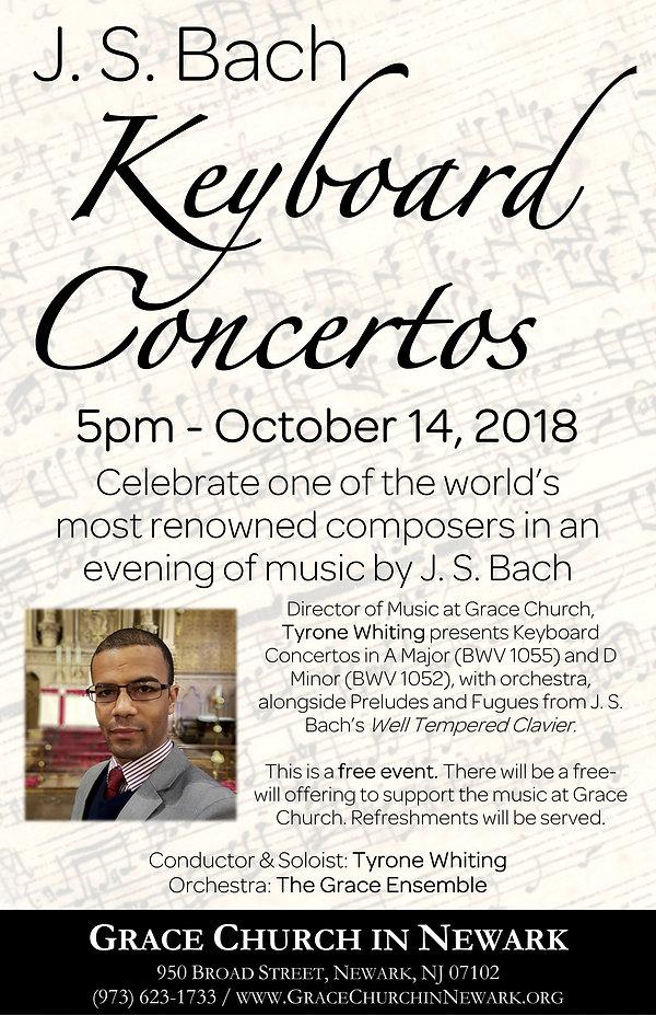GCiN - Bach Piano Concertos Concert Post