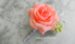 real touch coral rose, real touch boutonniere, natural touch flowers