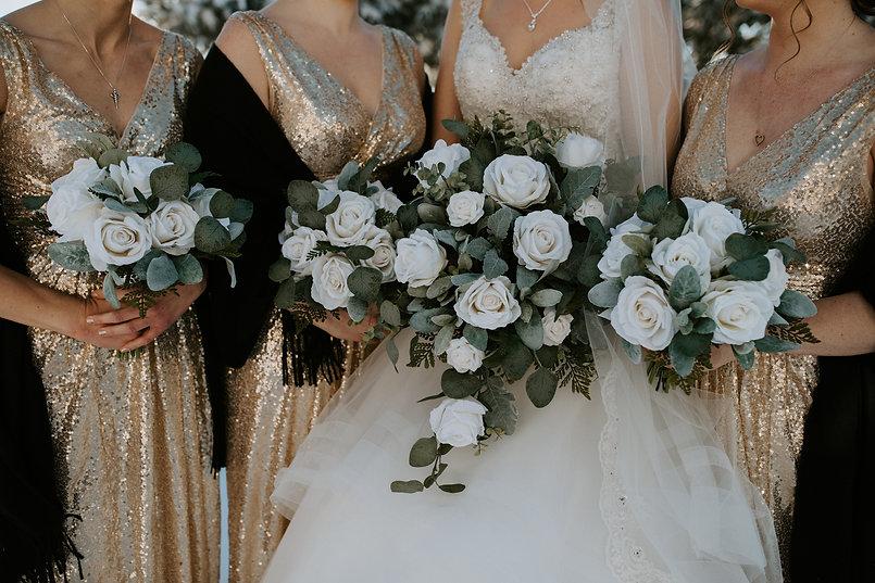 Silk wedding bouquets, real touch weddin