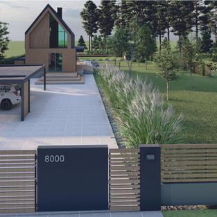 Wizualizacja ogrodu - podjazd