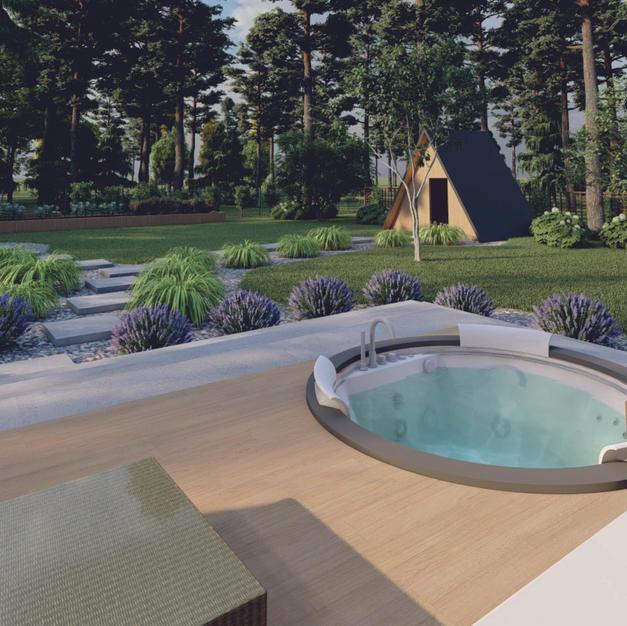 Wizualizacja ogrodu taras