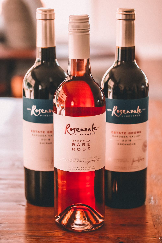 Three bottles of organic wine