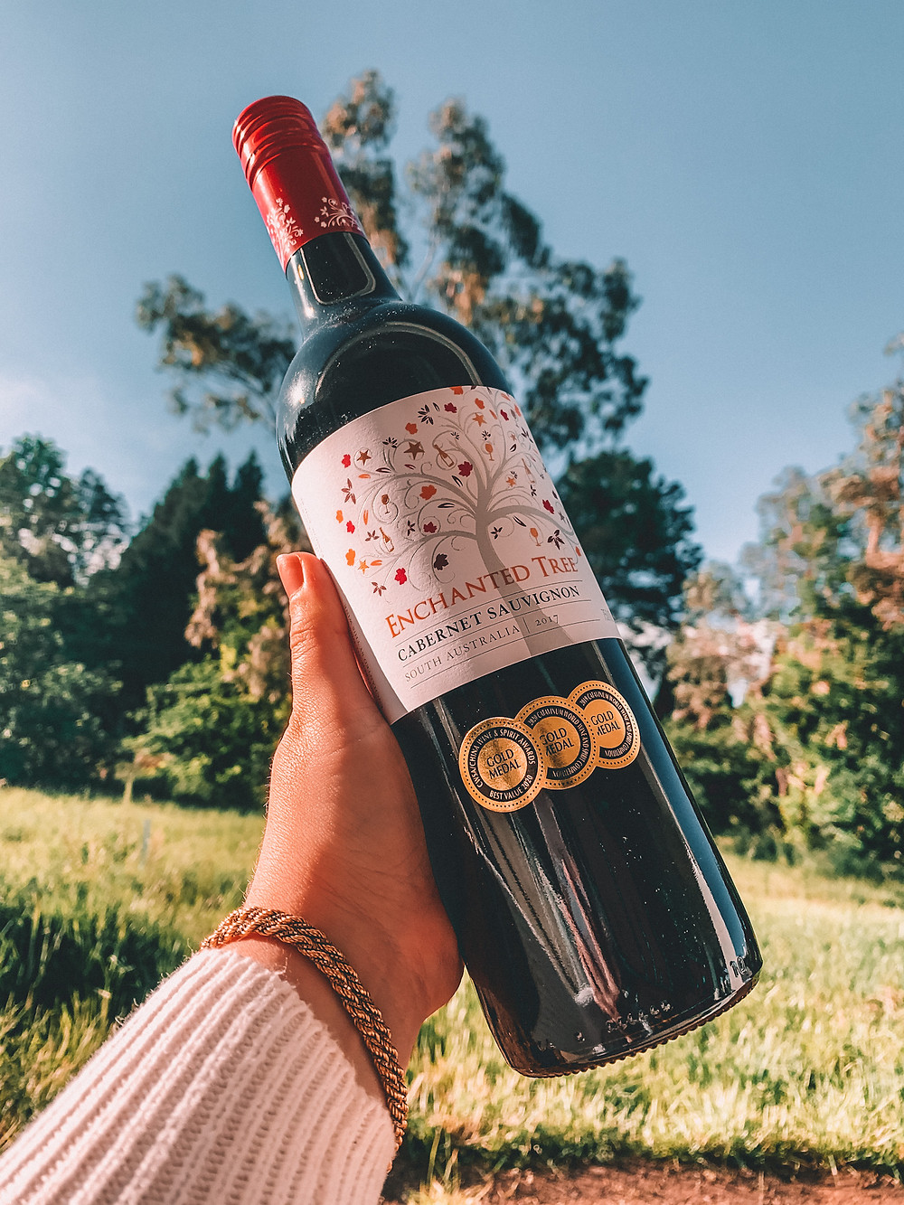 Australian red wine with gold medals
