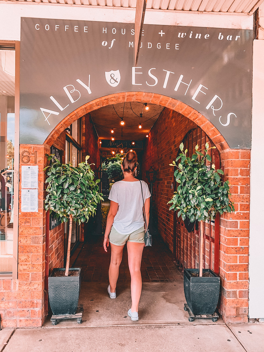 Entrance to a coffee shop in Mudgee