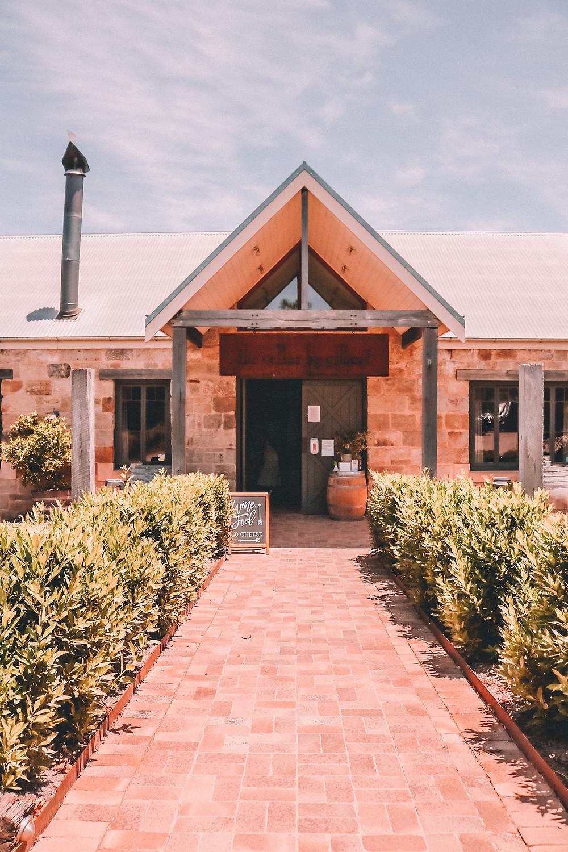 Entrance to winery cellar door
