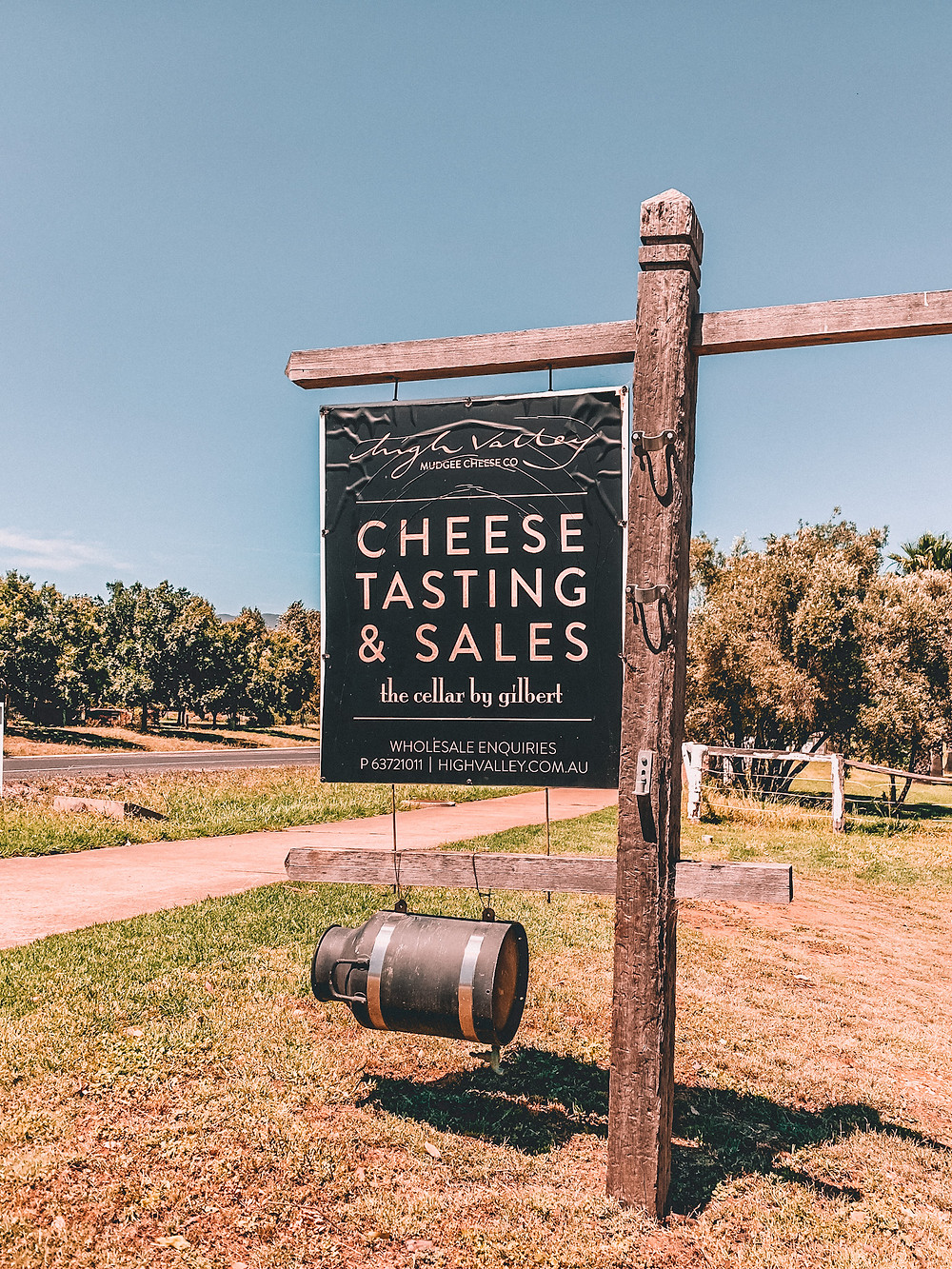 Sign for cheese tastings