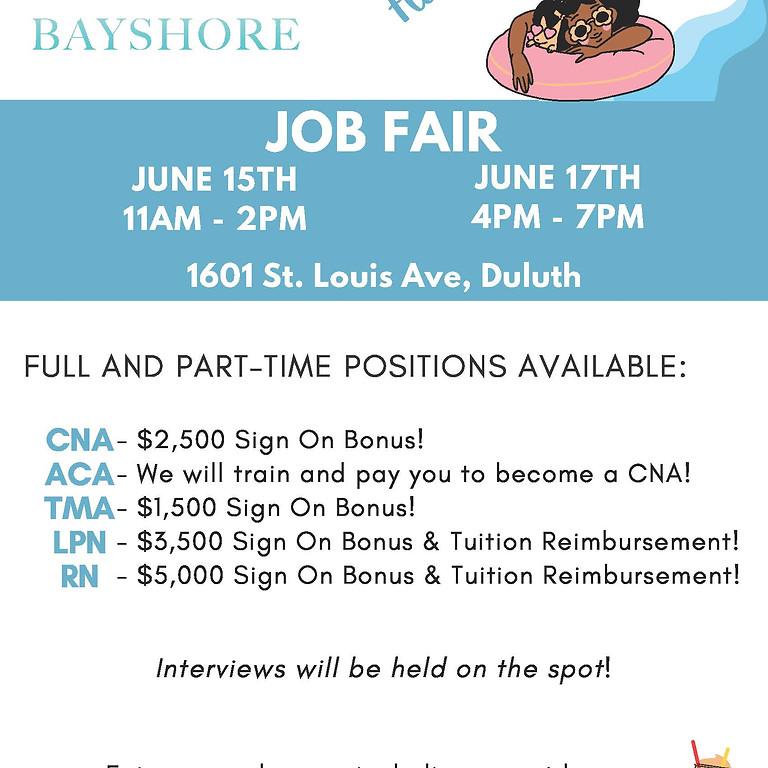 Bayshore is having a job fair!