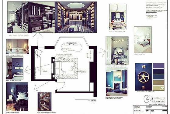 We add pictures to our interior plans to