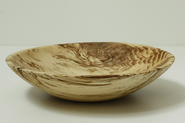 Spalted birch plate