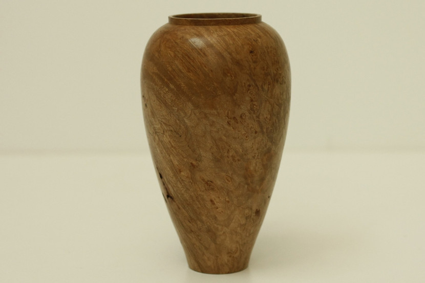 Big leaf maple burl vase