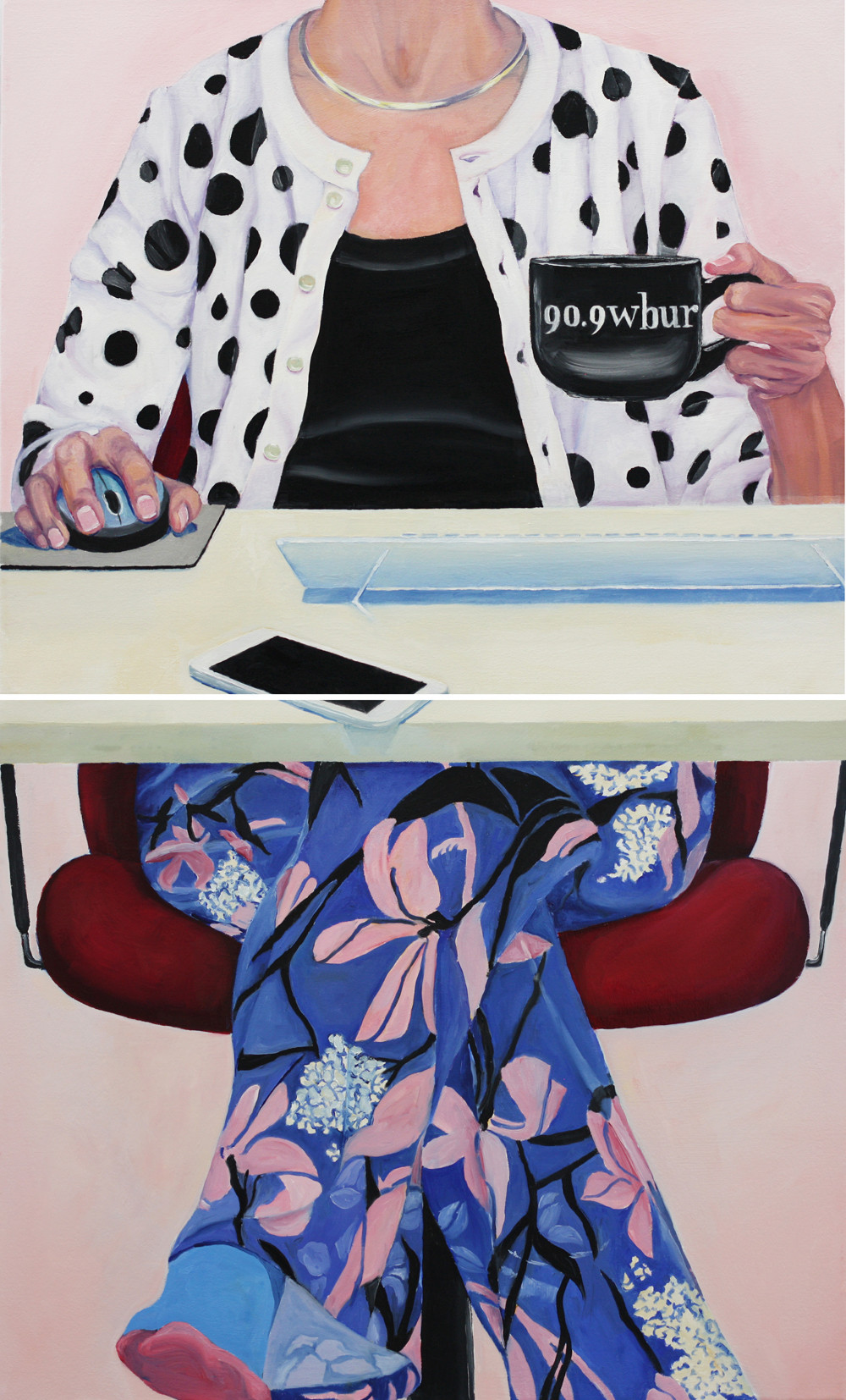 Diptych: Working From Home