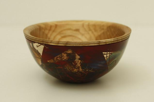 Patinated ash bowl