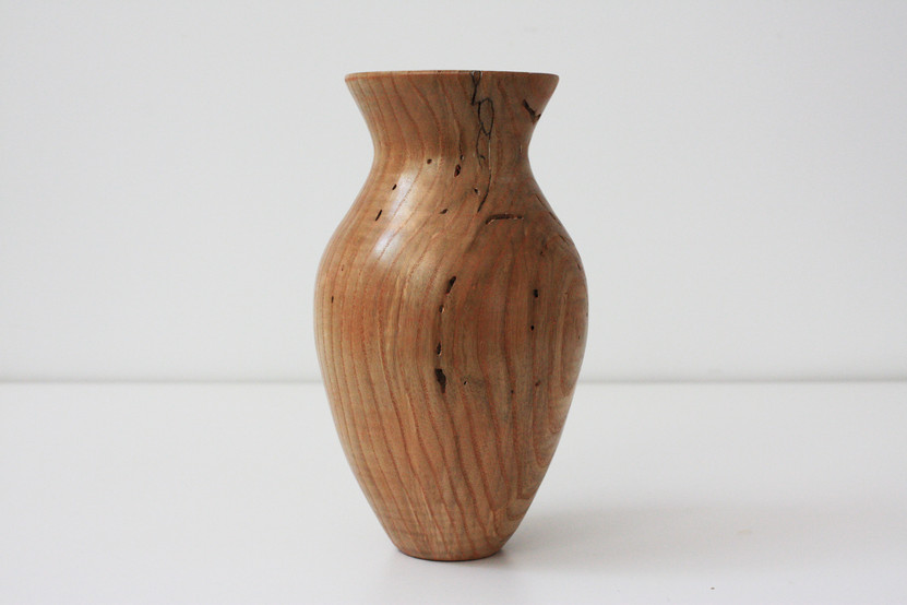Tall ash vase