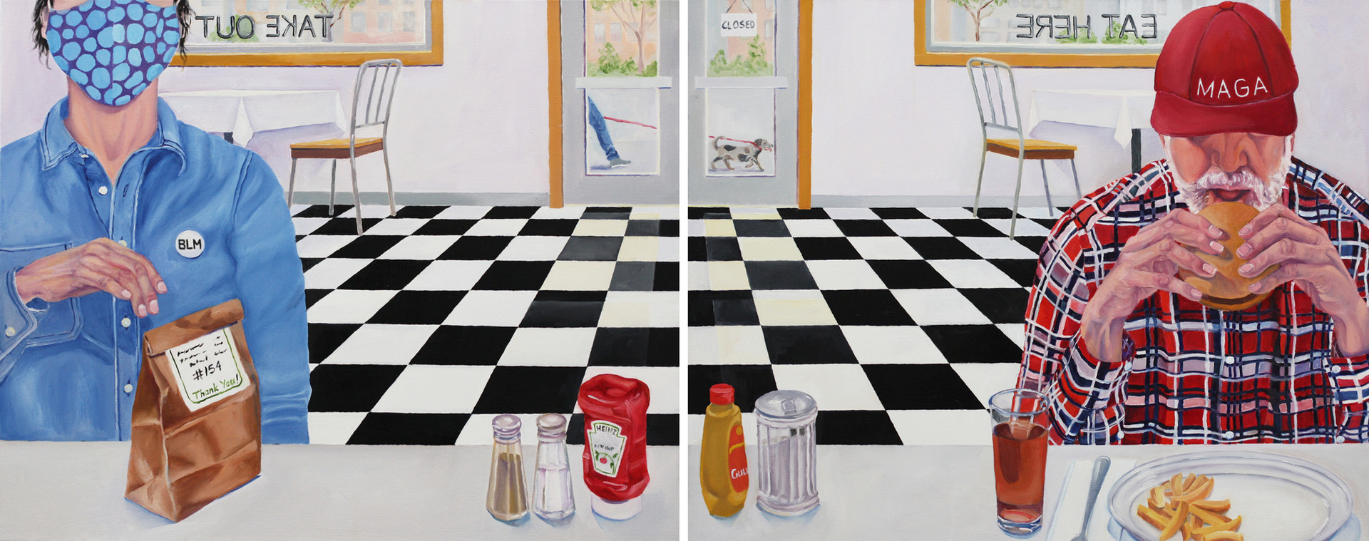 Diptych: Socially Distant