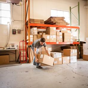 Travailleur de levage Boîte en carton