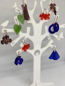 Stone Arrow - Recycled Glass Earrings