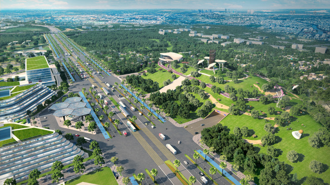 Urban Design of a New Smart City (Entrance)