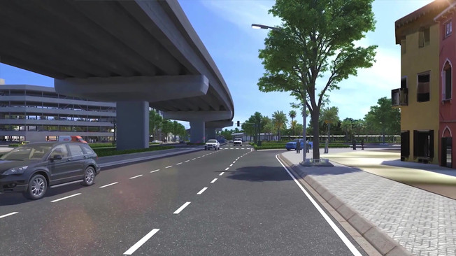 Elevated Highway and TOD in Urban Center
