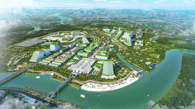 Urban Design of a New Smart City (Bird View)