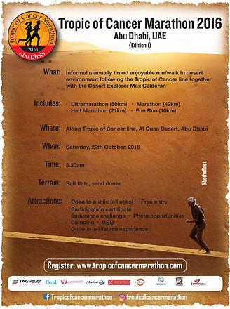 tropic of cancer marathon UAE