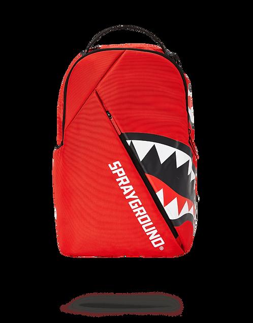 Sprayground Angled Shark Backpack (Red)